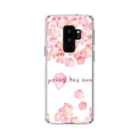 桜&デザイン英文 Samsung Galaxy S9 Plus TPU クリアケース
