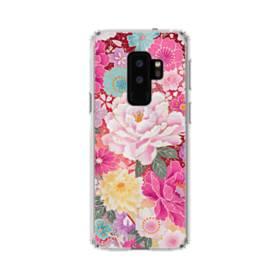 和の花柄:牡丹 Samsung Galaxy S9 Plus TPU クリアケース
