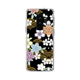 和風・桜&浪 Samsung Galaxy S9 Plus TPU クリアケース