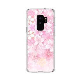 爛漫・ピンク&桜色 Samsung Galaxy S9 Plus TPU クリアケース