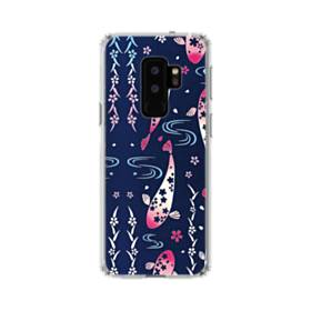 和柄:桜&錦鯉 Samsung Galaxy S9 Plus TPU クリアケース