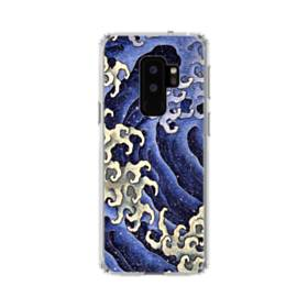 名画:女浪(めなみ) 葛飾 北斎 Samsung Galaxy S9 Plus TPU クリアケース
