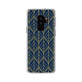 デザイン・アートなパターン:紺&イエロー Samsung Galaxy S9 Plus TPU クリアケース