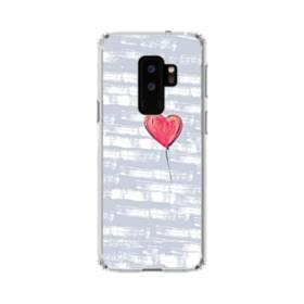 ハートバルーン Samsung Galaxy S9 Plus TPU クリアケース