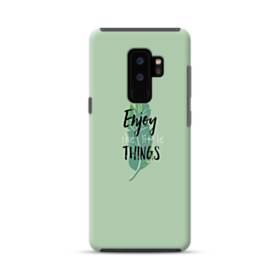 デザイン アルファベット011 enjoy the little things Samsung Galaxy S9 Plus ポリカーボネート タフケース