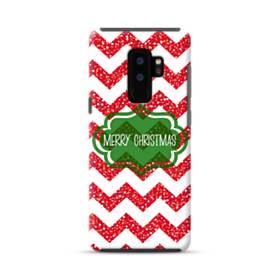 デザイン メリー クリスマス Samsung Galaxy S9 Plus ポリカーボネート タフケース