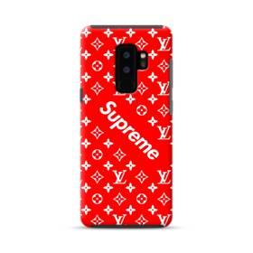 ルイ・ヴィトン&シュプリーム赤バージョン) Samsung Galaxy S9 Plus ポリカーボネート タフケース