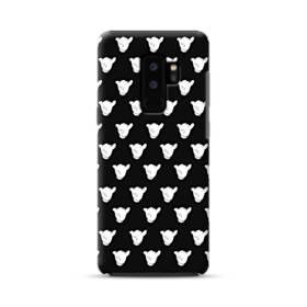 白黒系パターン Samsung Galaxy S9 Plus ポリカーボネート タフケース