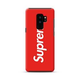 ニューヨークより赤のシュプリーム(super me) Samsung Galaxy S9 Plus ポリカーボネート タフケース