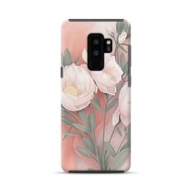 色鉛筆絵 花 フラワー  Samsung Galaxy S9 Plus ポリカーボネート タフケース