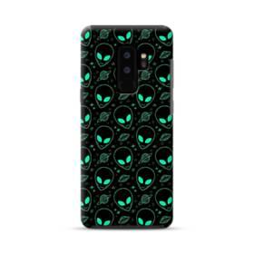 宇宙人&UFOのモチーフ Samsung Galaxy S9 Plus ポリカーボネート タフケース