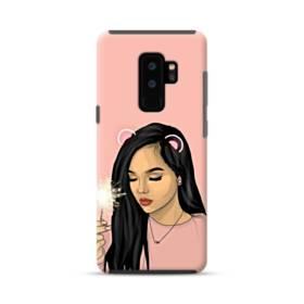 女の子シリーズ001、pink  Samsung Galaxy S9 Plus ポリカーボネート タフケース