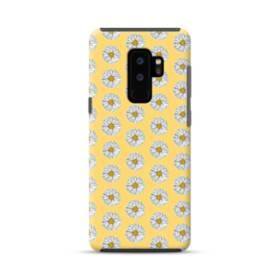 フラワー・カモミールのパターン Samsung Galaxy S9 Plus ポリカーボネート タフケース