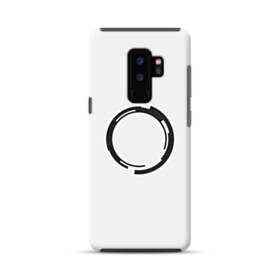 デザイン 白黒系アート・まる Samsung Galaxy S9 Plus ポリカーボネート タフケース