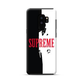 デザイン 白黒系パターン(アルファベット入り:SUPER ME) Samsung Galaxy S9 Plus ポリカーボネート タフケース