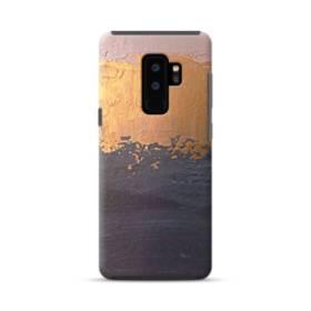 アート・三色(ホワイト・ゴールド・紺) Samsung Galaxy S9 Plus ポリカーボネート タフケース