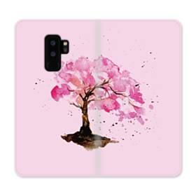 水彩画・桜の木 Samsung Galaxy S9 Plus 合皮 手帳型ケース