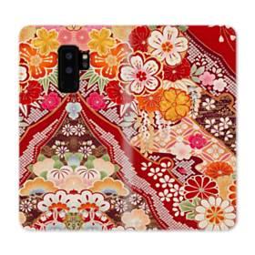 和・花柄 Samsung Galaxy S9 Plus 合皮 手帳型ケース