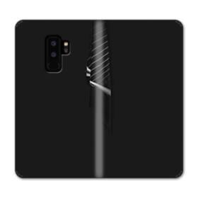 クールなブラック系パターン001 Samsung Galaxy S9 Plus 合皮 手帳型ケース