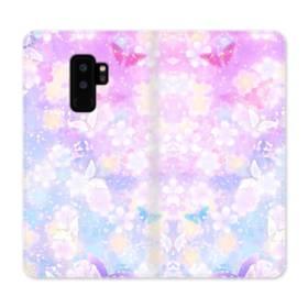 爛漫・抽象的な桜の花 Samsung Galaxy S9 Plus 合皮 手帳型ケース