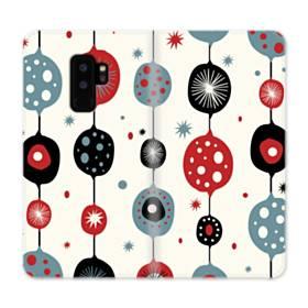 クリスマス アートなデコレーション Samsung Galaxy S9 Plus 合皮 手帳型ケース