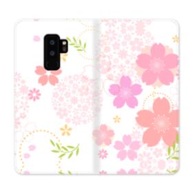 桜の形・いろいろ Samsung Galaxy S9 Plus 合皮 手帳型ケース