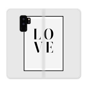 ハニー・デザイン・アルファベット:love Samsung Galaxy S9 Plus 合皮 手帳型ケース