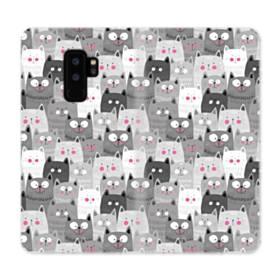 多くの子猫 Samsung Galaxy S9 Plus 合皮 手帳型ケース