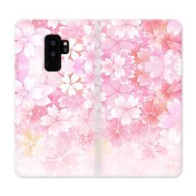 爛漫・ピンク&桜色 Samsung Galaxy S9 Plus 合皮 手帳型ケース