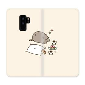 ぽっちゃり猫 Samsung Galaxy S9 Plus 合皮 手帳型ケース