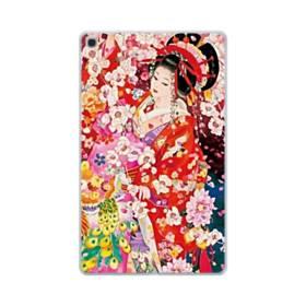 和・花魁&桜 Samsung Galaxy Tab A 10.1 (2019) TPU クリアケース