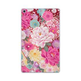和の花柄:牡丹 Samsung Galaxy Tab A 10.1 (2019) TPU クリアケース