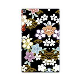 和風・桜&浪 Samsung Galaxy Tab A 10.1 (2019) TPU クリアケース