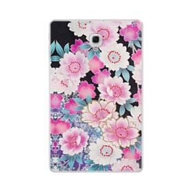 和の花柄 Samsung Galaxy Tab A 10.5 TPU クリアケース