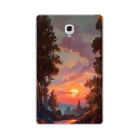 野原の夕暮れ景色 Samsung Galaxy Tab A 10.5 TPU クリアケース