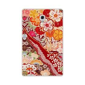 和・花柄 Samsung Galaxy Tab A 10.5 TPU クリアケース