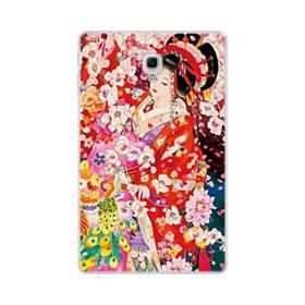 和・花魁&桜 Samsung Galaxy Tab A 10.5 TPU クリアケース