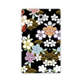 和風・桜&浪 Samsung Galaxy Tab A 10.5 TPU クリアケース