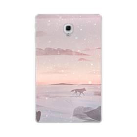 冬の野原を走る狼 Samsung Galaxy Tab A 10.5 TPU クリアケース