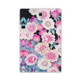 和の花柄 Samsung Galaxy Tab S4 10.5 TPU クリアケース