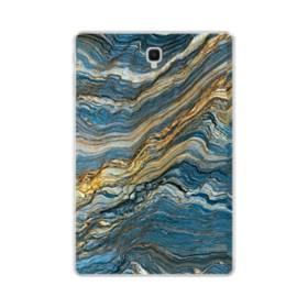 マーブル模様・白&藍 Samsung Galaxy Tab S4 10.5 TPU クリアケース