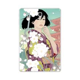 ザ・桜&ジャパンガール! Samsung Galaxy Tab S4 10.5 TPU クリアケース