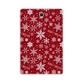 メリー クリスマス スノーのモチーフ Samsung Galaxy Tab S4 10.5 TPU クリアケース