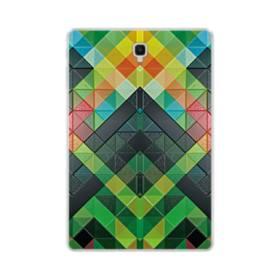 抽象的なモザイクパターン Samsung Galaxy Tab S4 10.5 TPU クリアケース