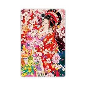 和・花魁&桜 Samsung Galaxy Tab S4 10.5 TPU クリアケース