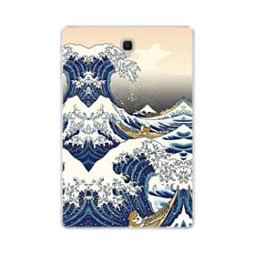 和柄:柴犬in浮世絵 Samsung Galaxy Tab S4 10.5 TPU クリアケース
