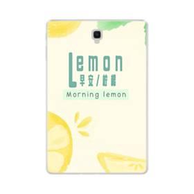 デザイン・漢字&アルファベット:レモン、おはよう。 Samsung Galaxy Tab S4 10.5 TPU クリアケース