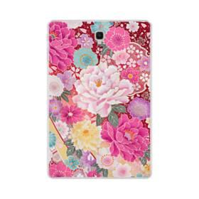 和の花柄:牡丹 Samsung Galaxy Tab S4 10.5 TPU クリアケース