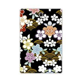 和風・桜&浪 Samsung Galaxy Tab S4 10.5 TPU クリアケース