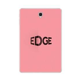 デザイン アルファベット:edge (ピンク・バージョン) Samsung Galaxy Tab S4 10.5 TPU クリアケース